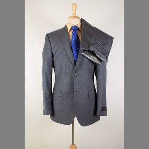 Jos. A. Bank 39R 33x37 Flat Front Suit B606